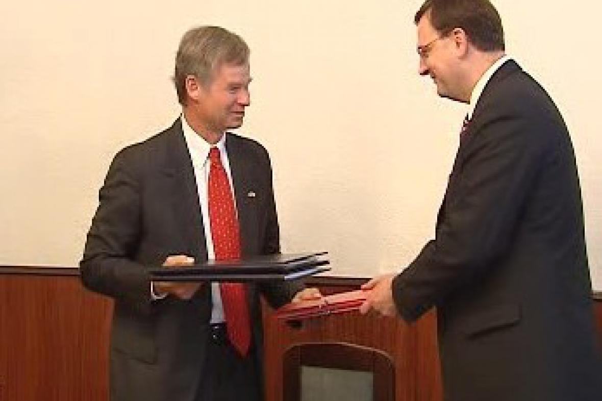 Richard Graber a Petr Nečas