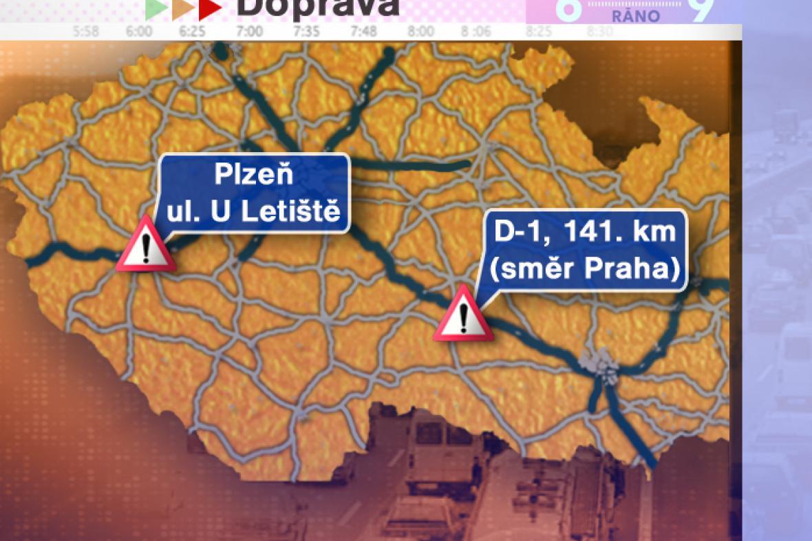 Dopravní situace v pátek 11. 7. 2008