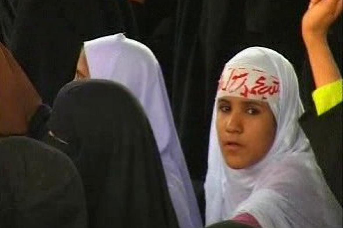 Demonstrace pákistánských žen