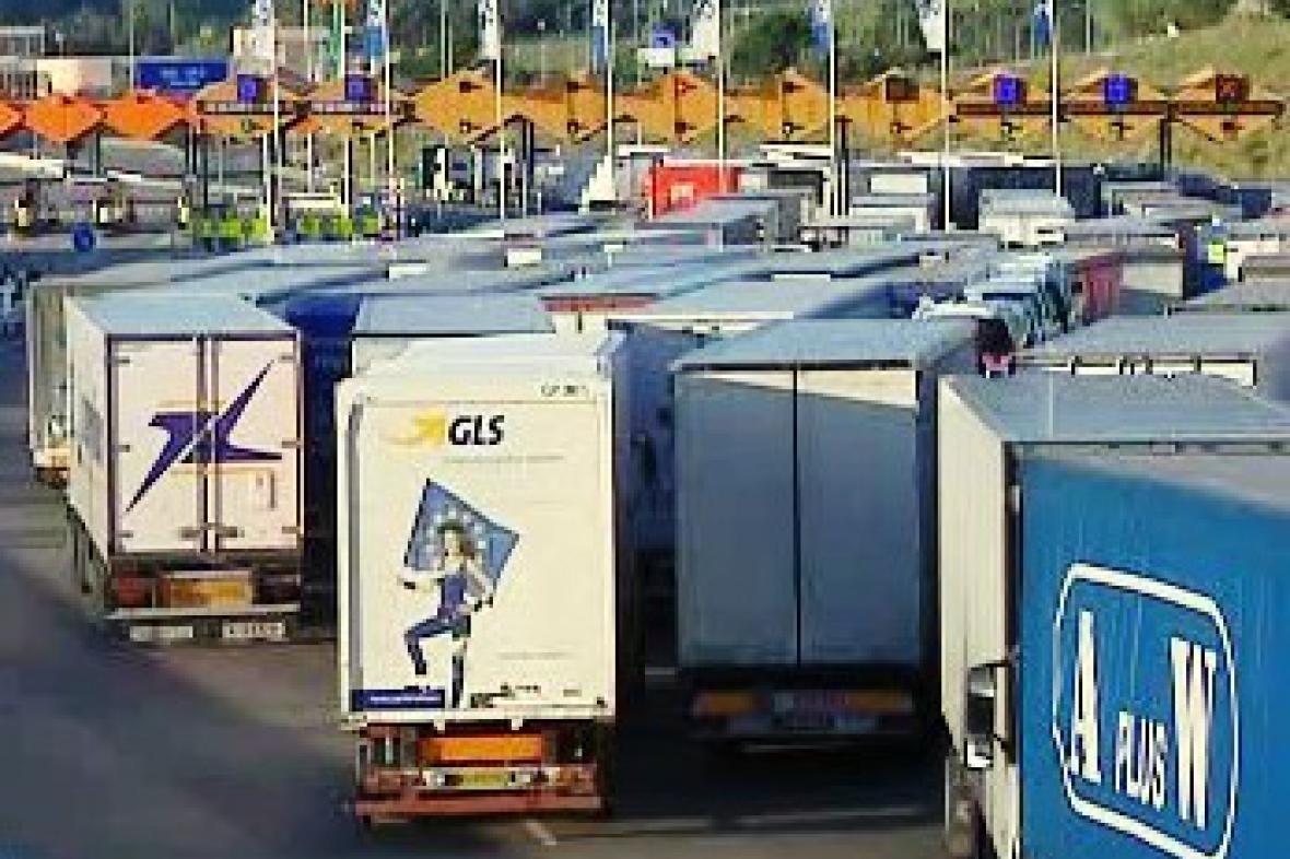 Stávka řidičů kamionů