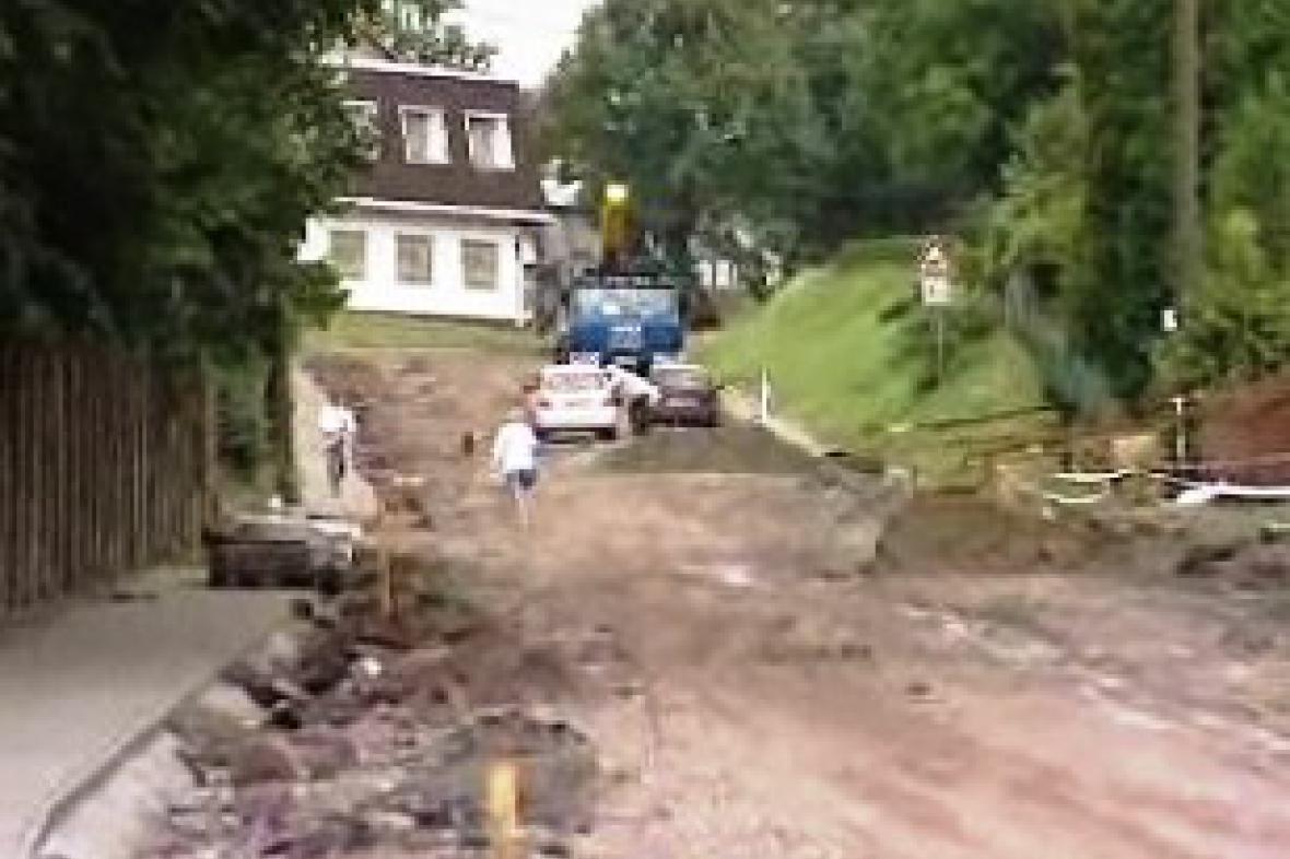 Rekonstrukce hlavní silnice v Havlíčkově Borové.