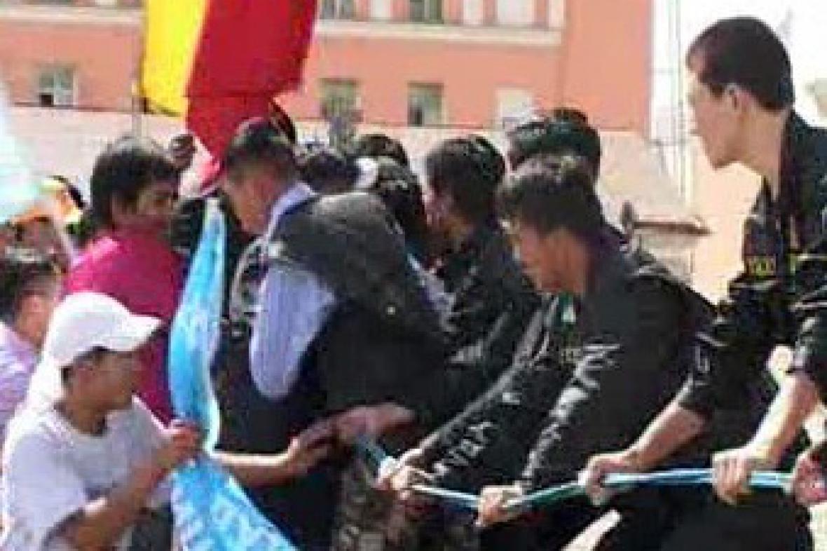 Protesty v Mongolsku