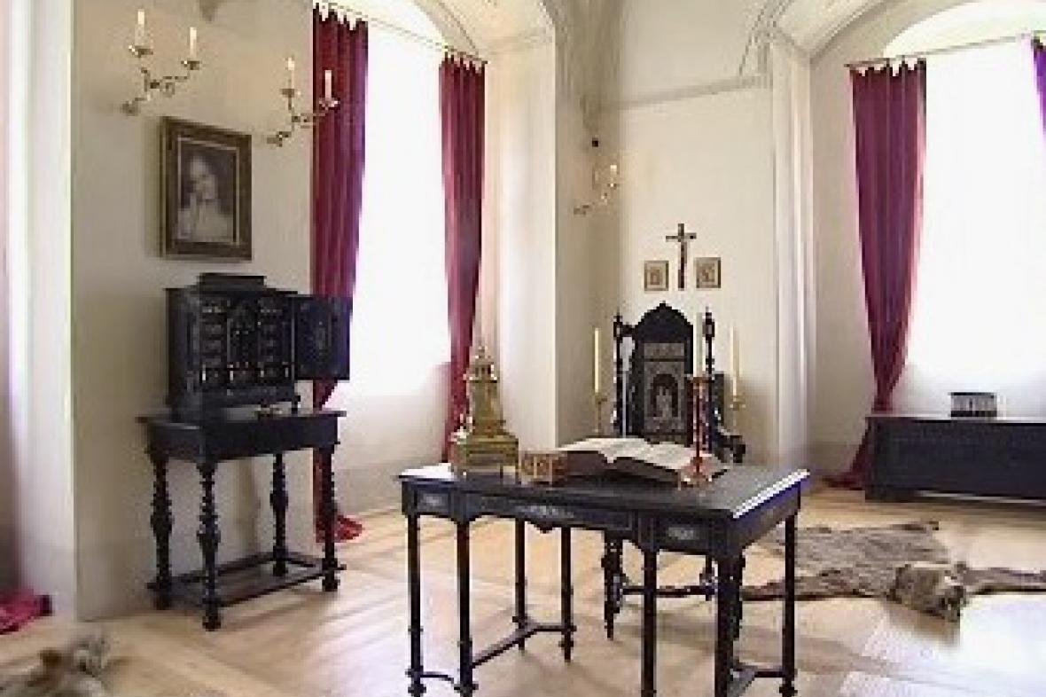 Interiér zámku Kratochvíle