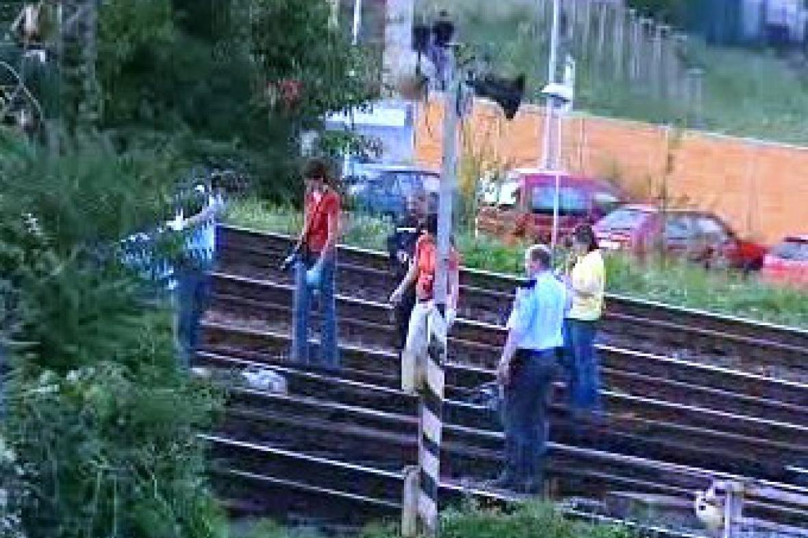Vlak srazil postiženého muže