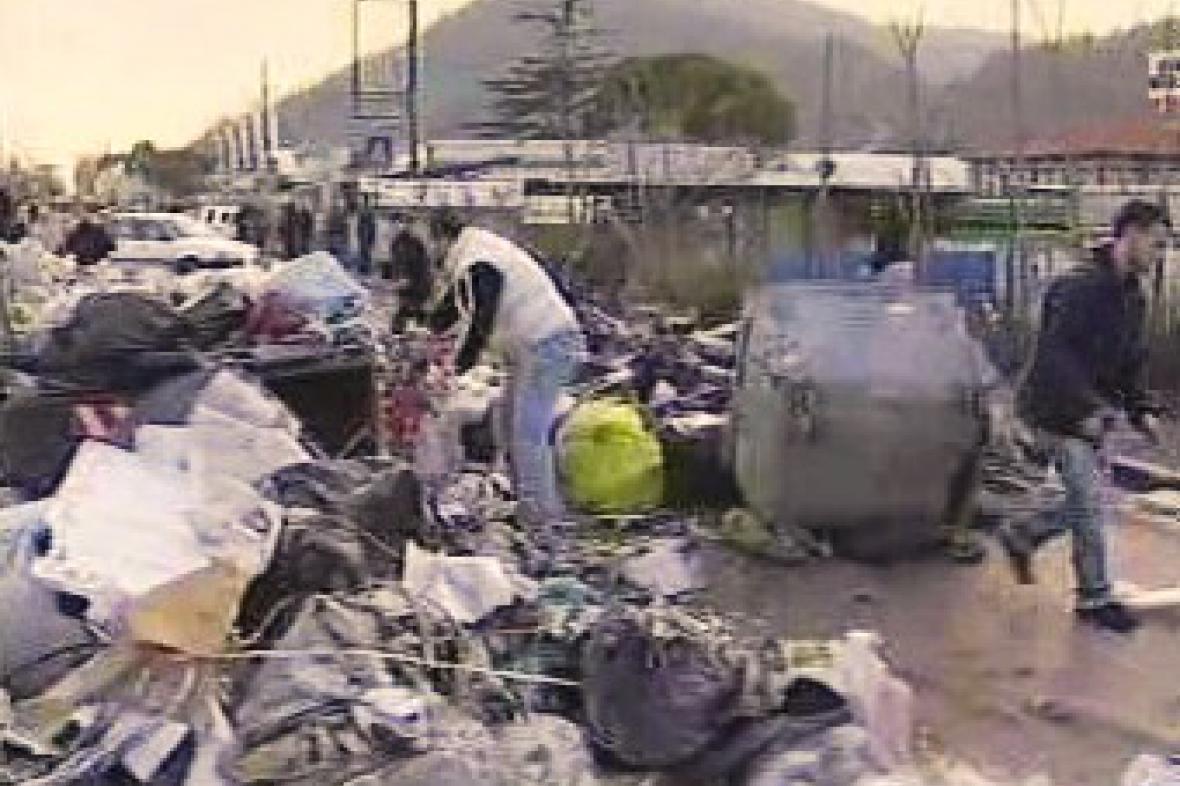 Odpadky v ulicích