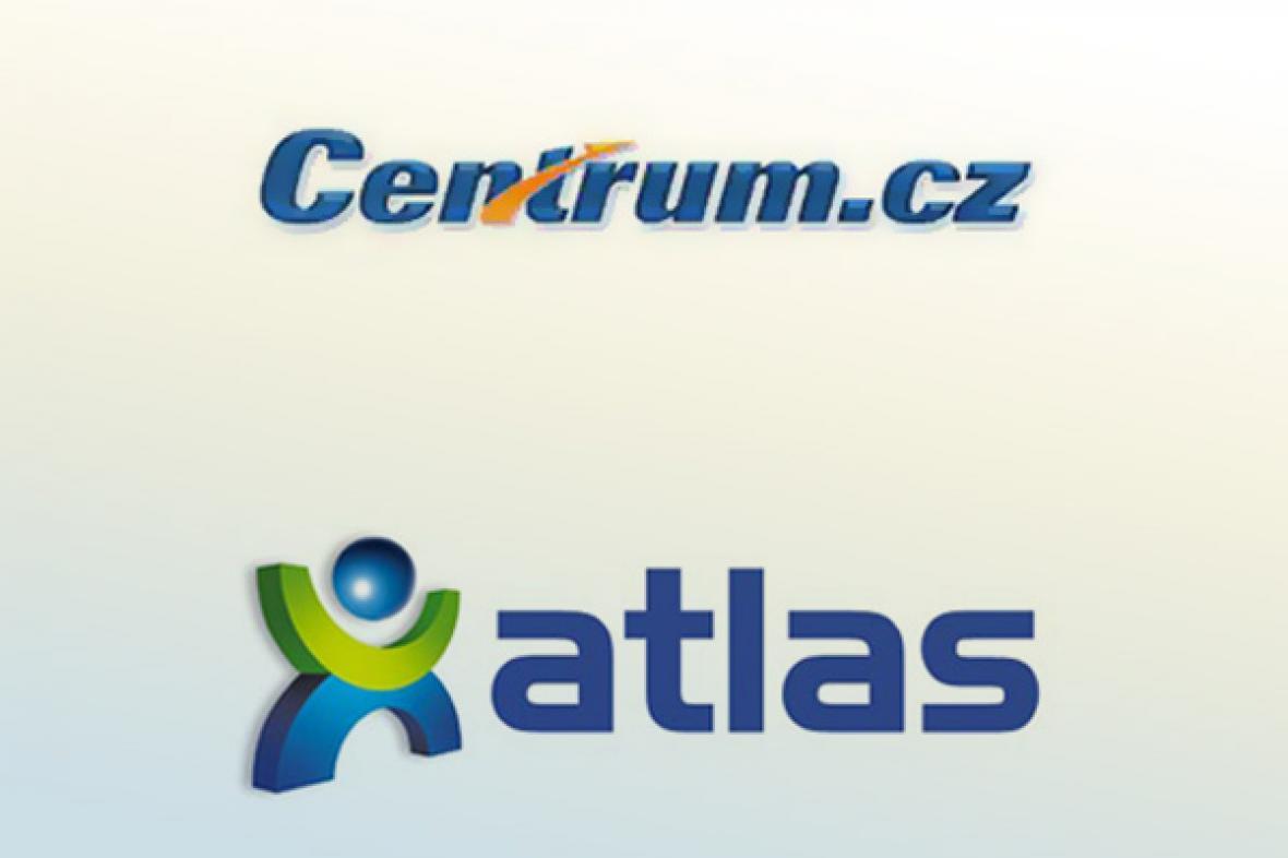 Loga portálů Centrum a Atlas