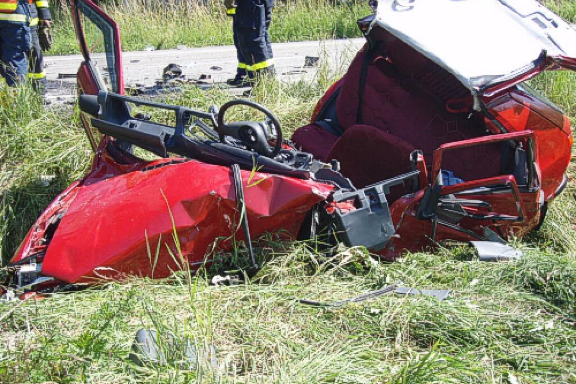Škoda Felicia po nehodě
