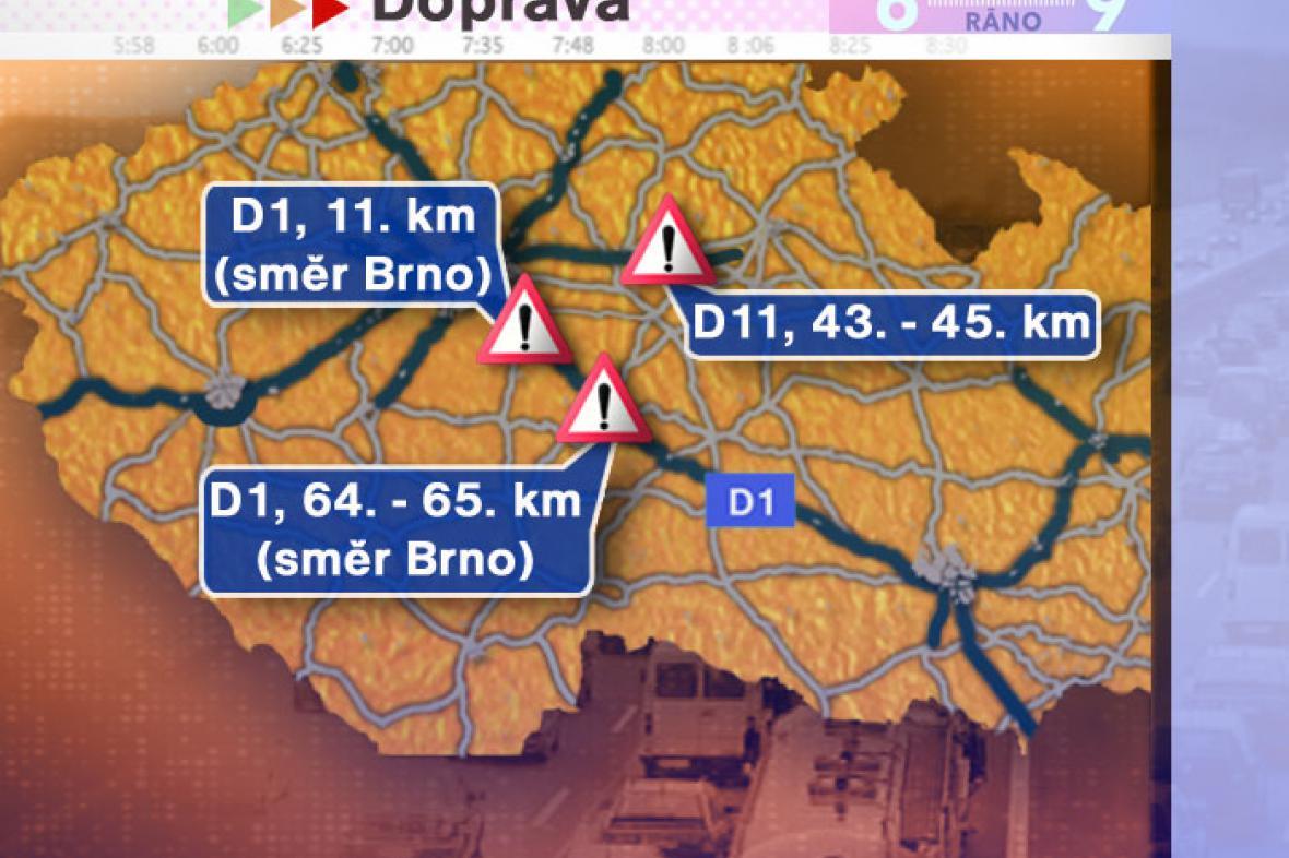 Dopravní situace ve středu 18. 6. 2008
