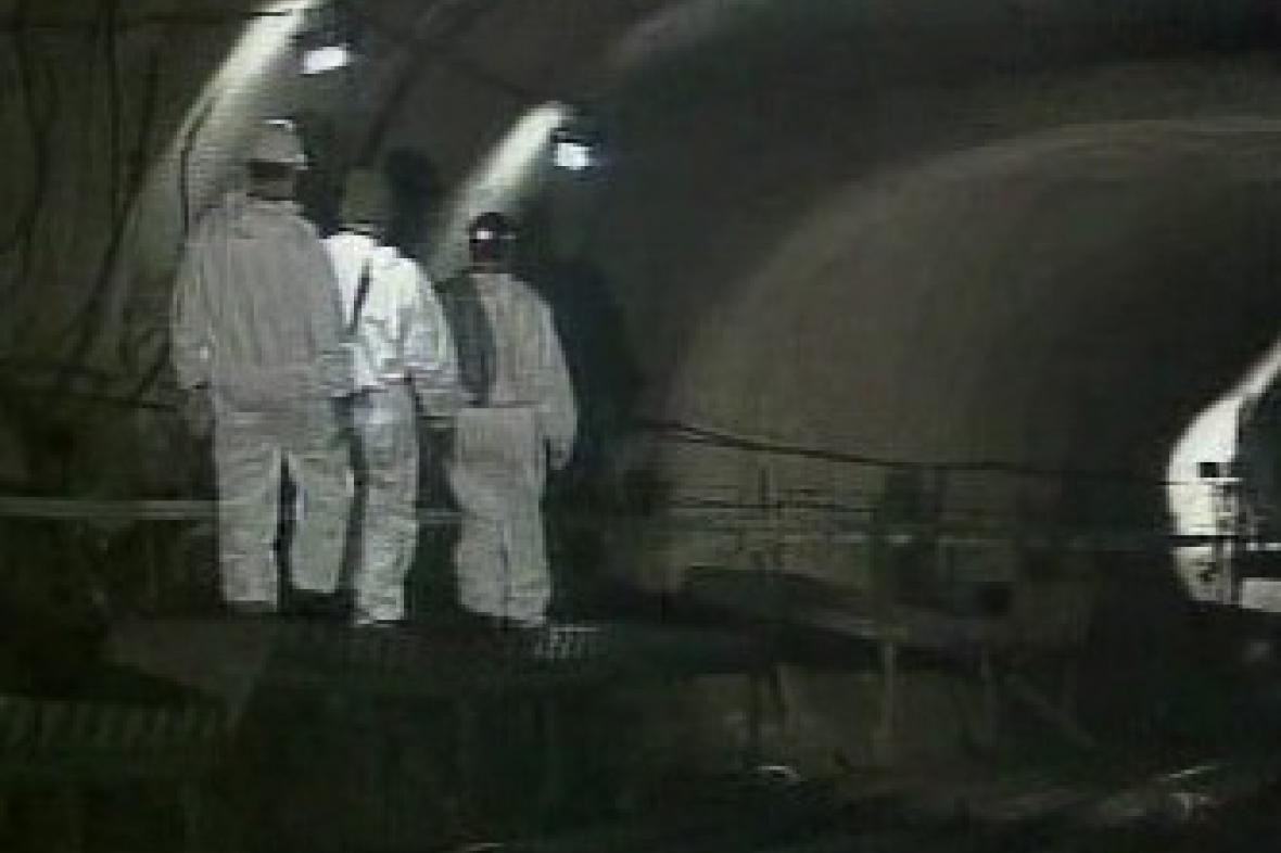 Tunel lanovky v Karpunu