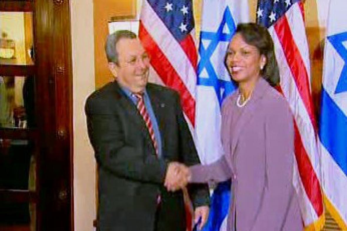 Condoleezza Riceová a Ehud Barak