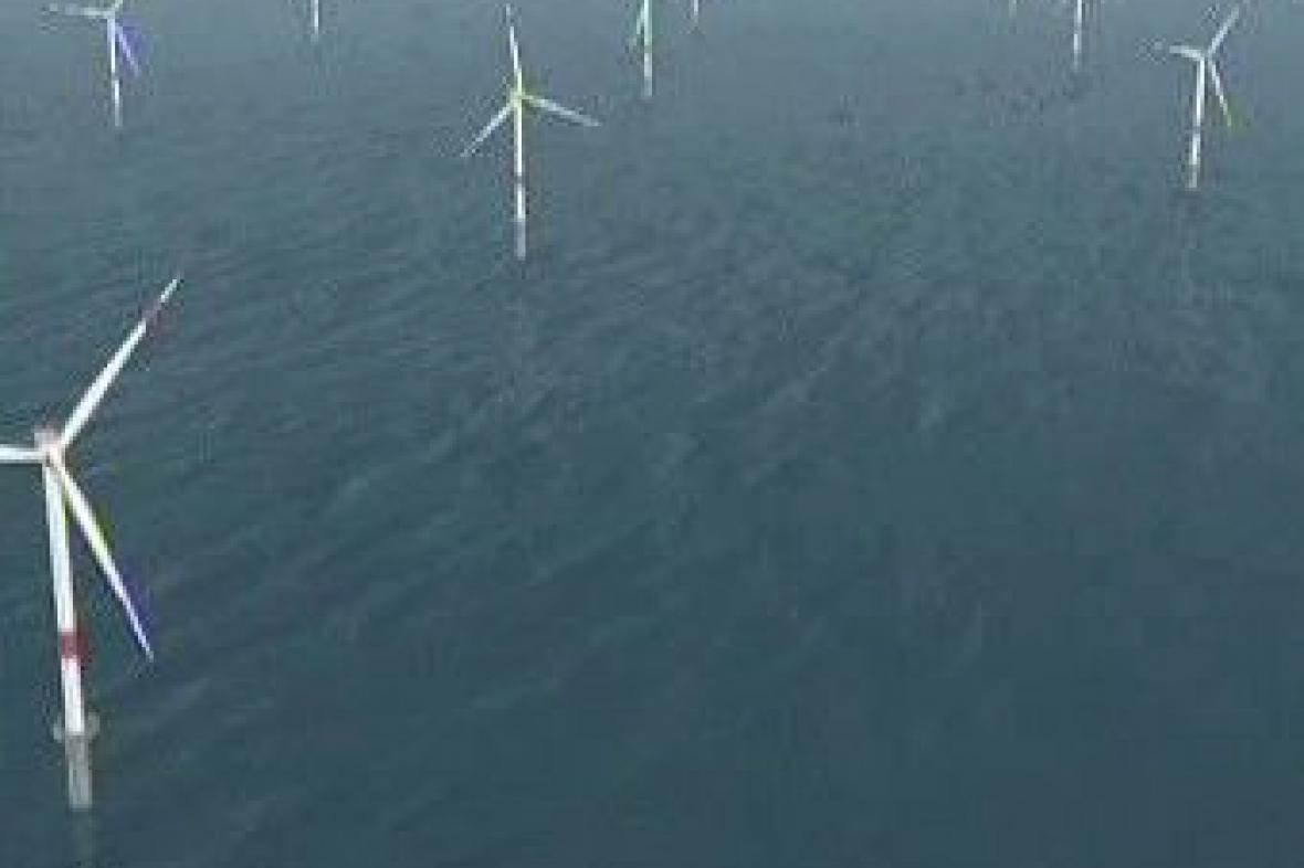 Větrná elektrárna na mořské hladině