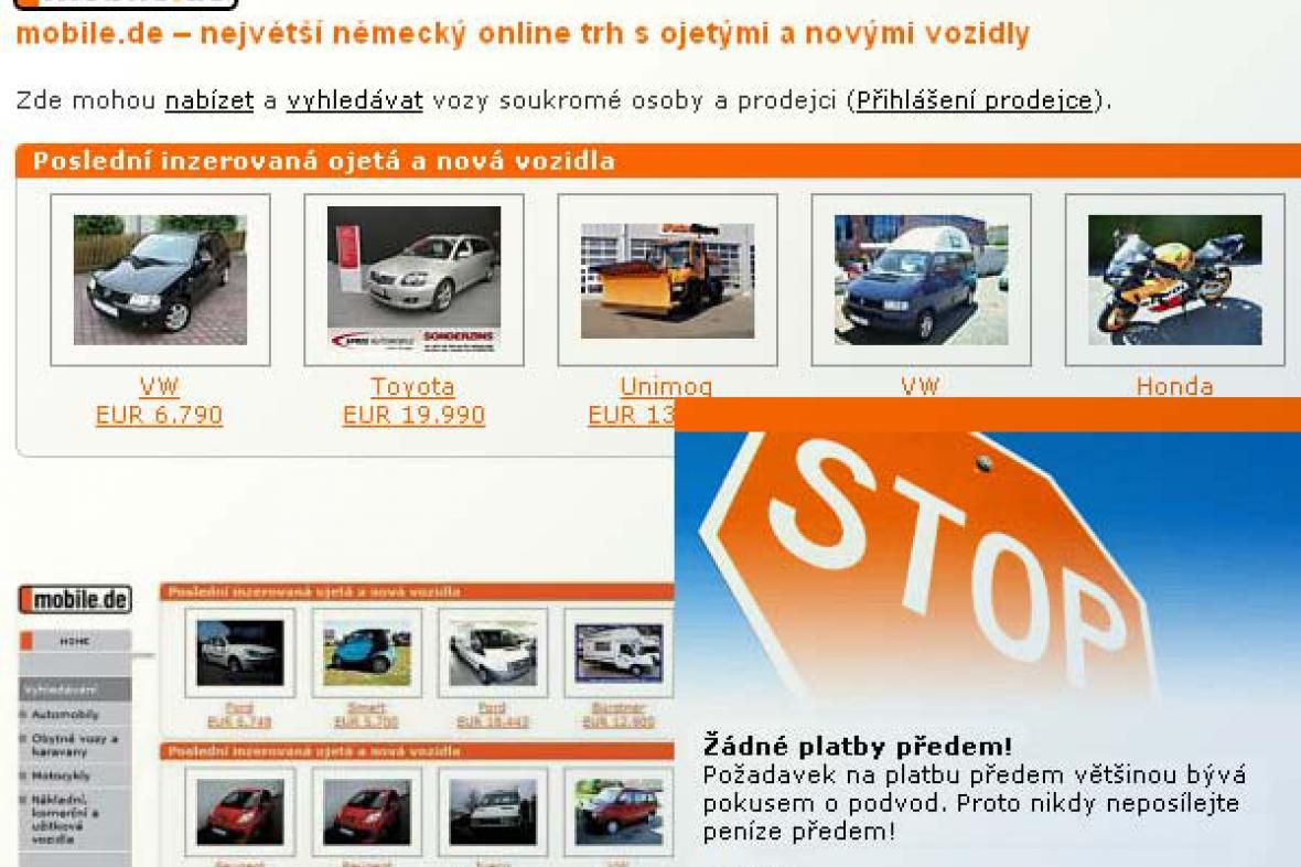 Německý automobilový server www.mobile.de