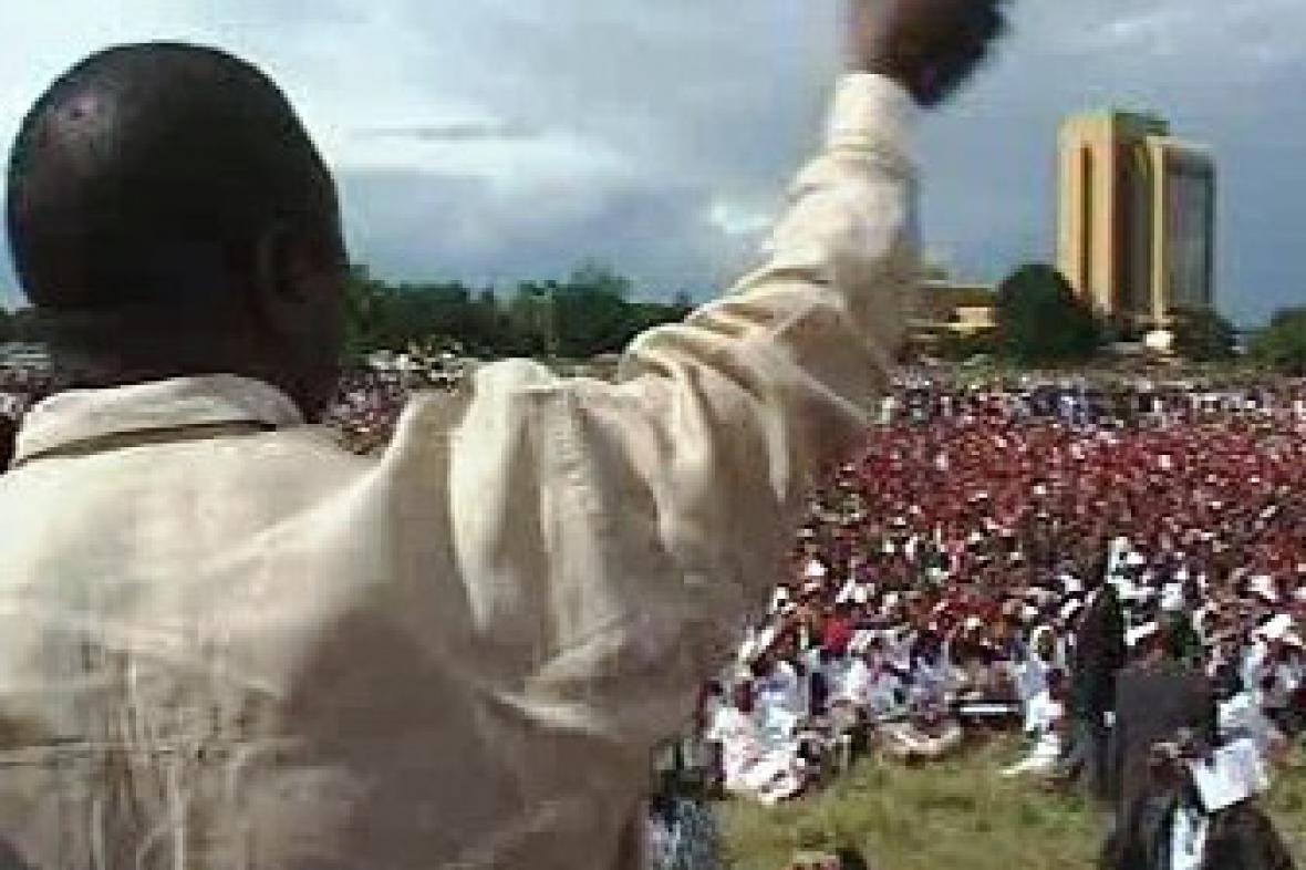 Tsvangiraiův projev