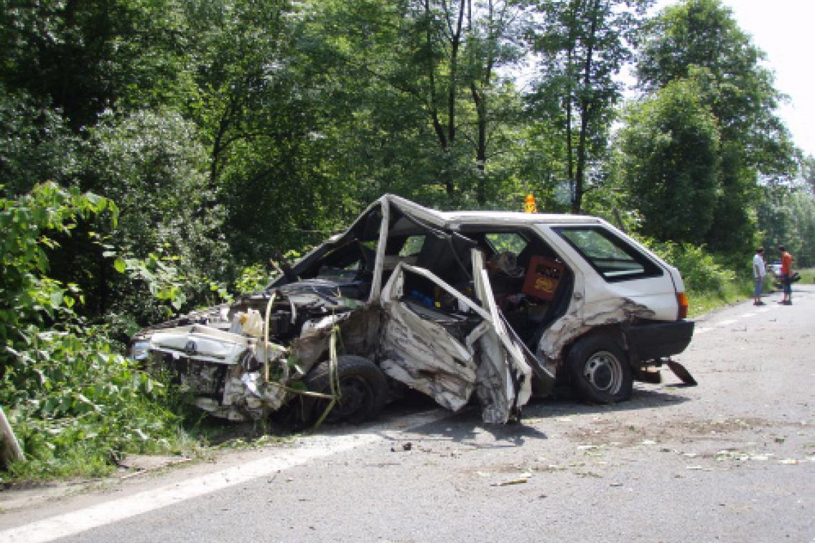 Havarovaná Škoda Forman