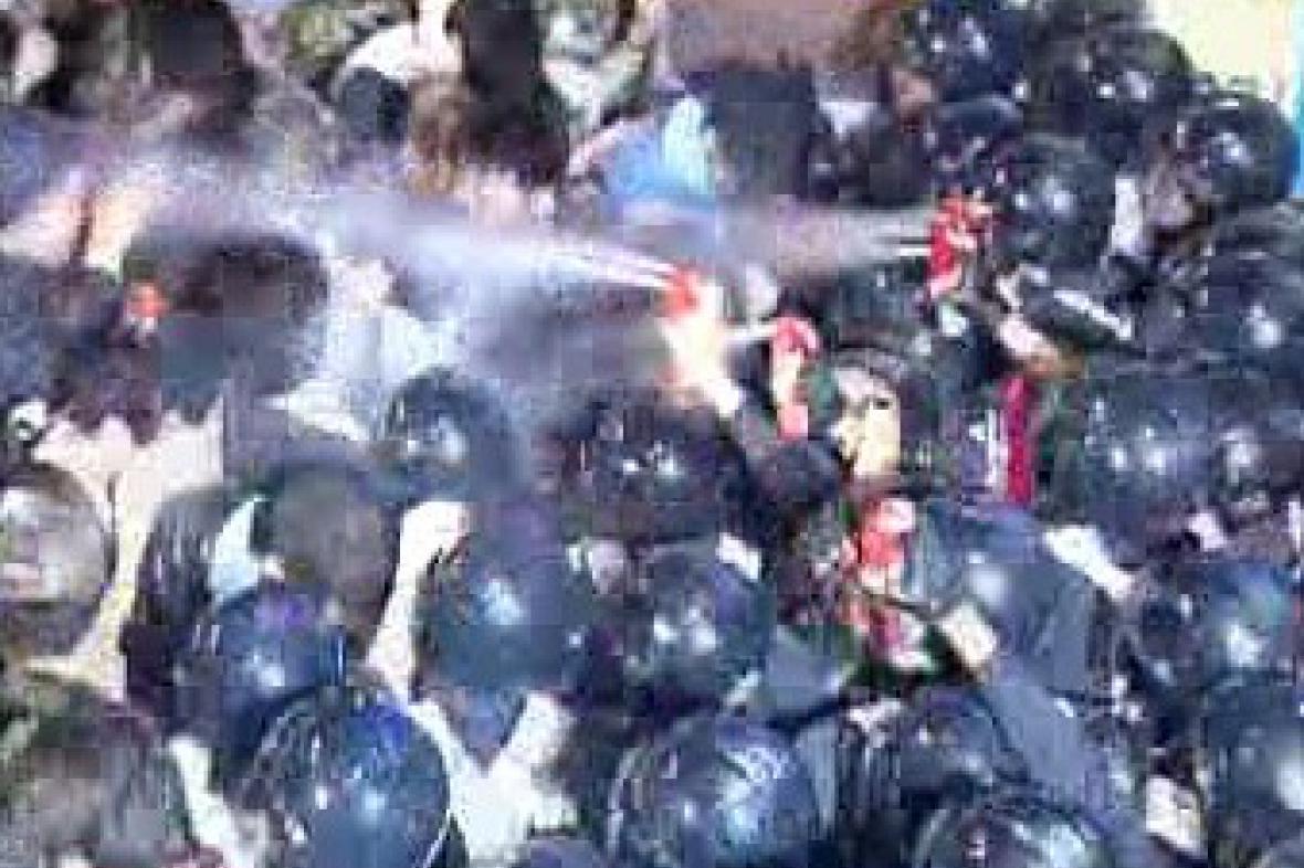Jihokorejci protestují