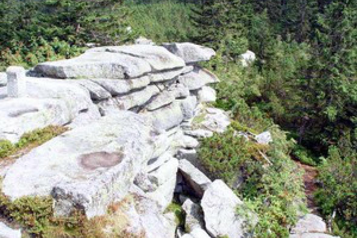 Sklaní útvar v Českém lese