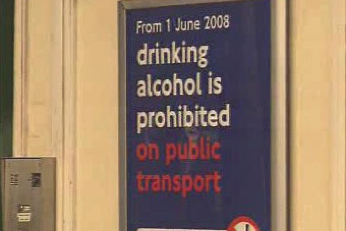 Zákaz alkoholu pro cestující londýnským metrem