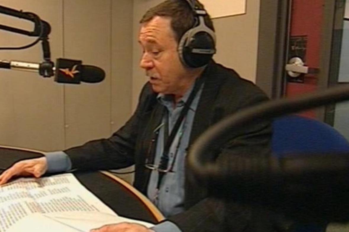 Jefim Fištejn ve studiu RFE