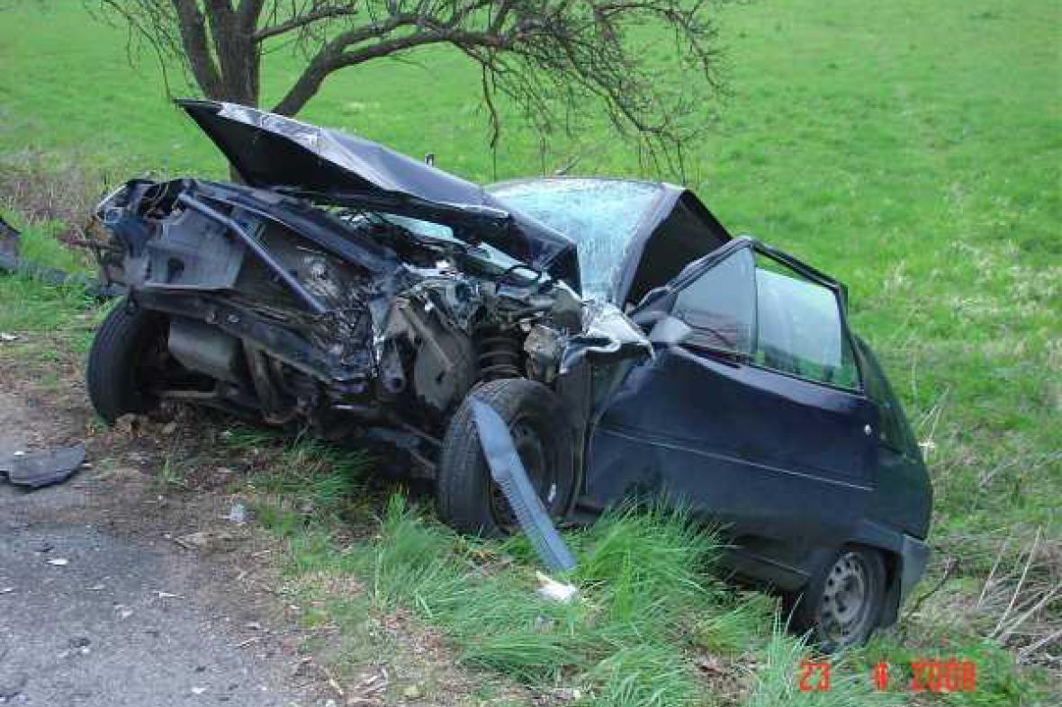 Vozidlo po nehodě