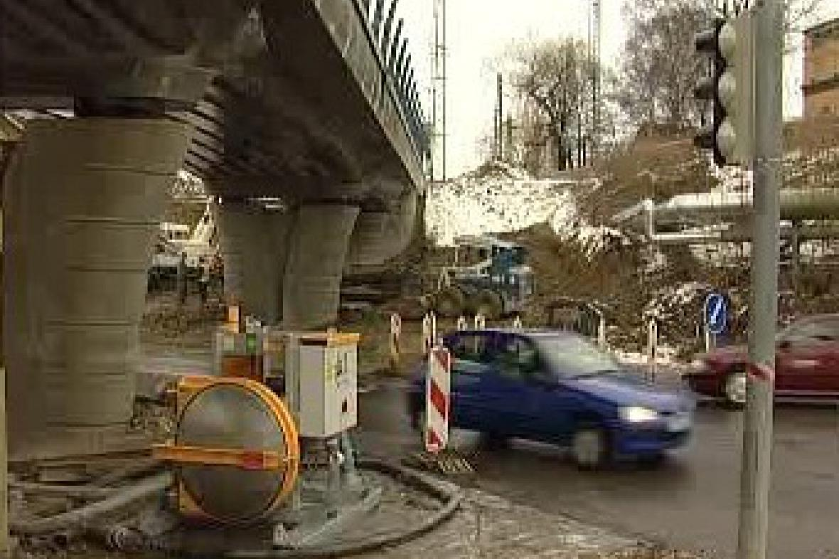 Nový železniční most v Táboře