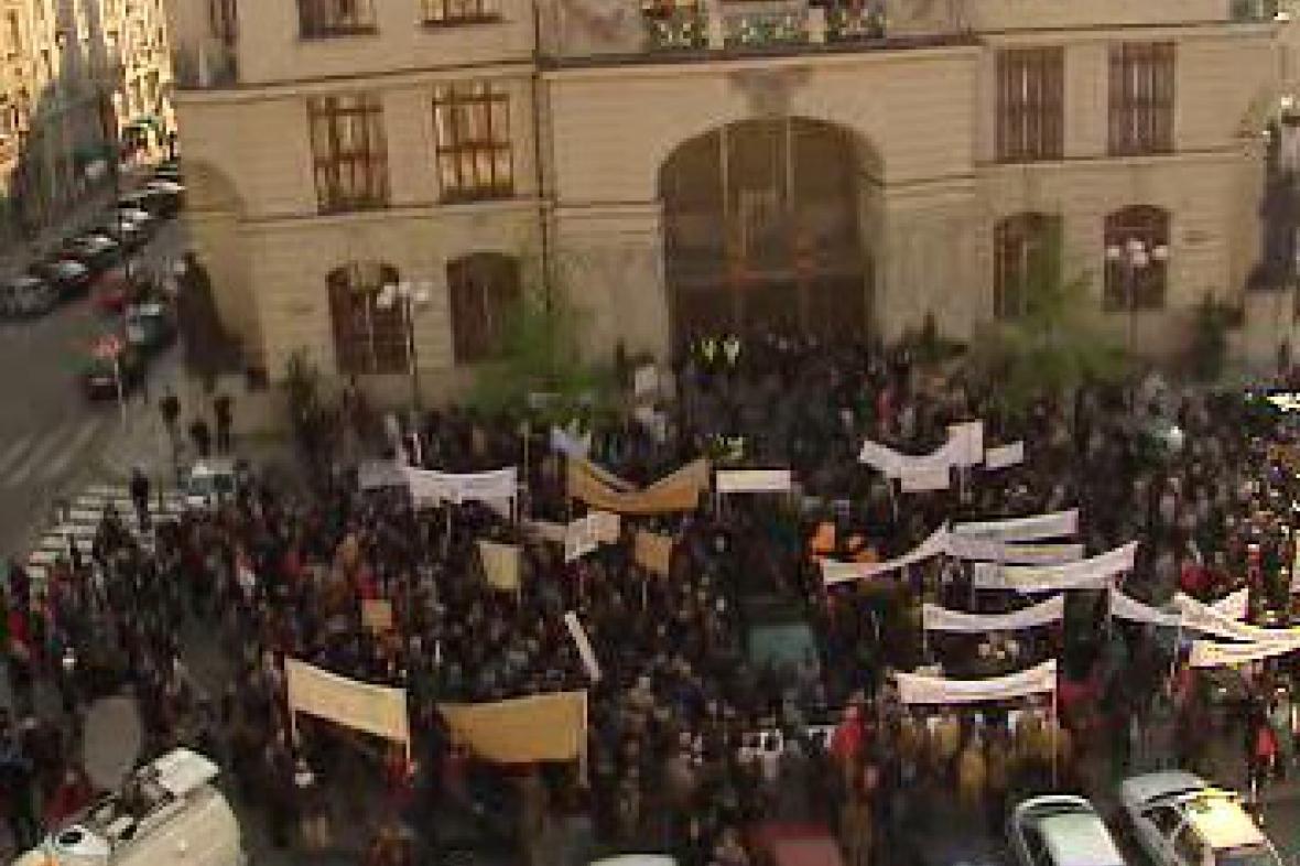 Protest umělců proti financování pražské kultury