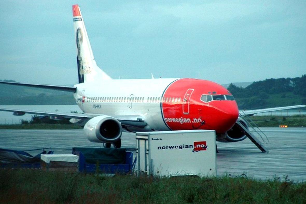 Letadlo společnosti Norwegian Air Shuttle