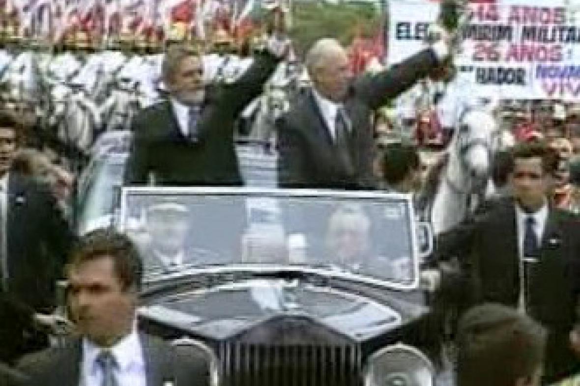Brazilský prezident v Praze