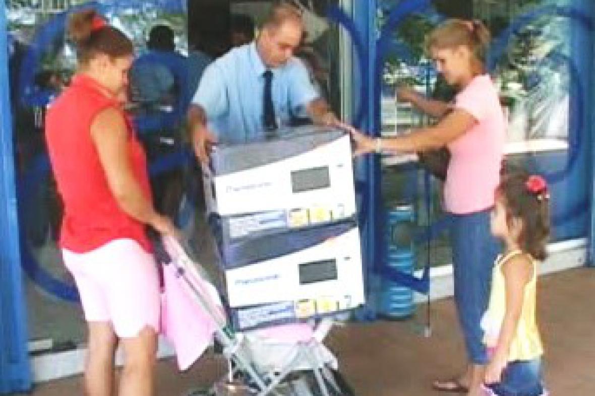 Kubánci kupují mikrovlnky