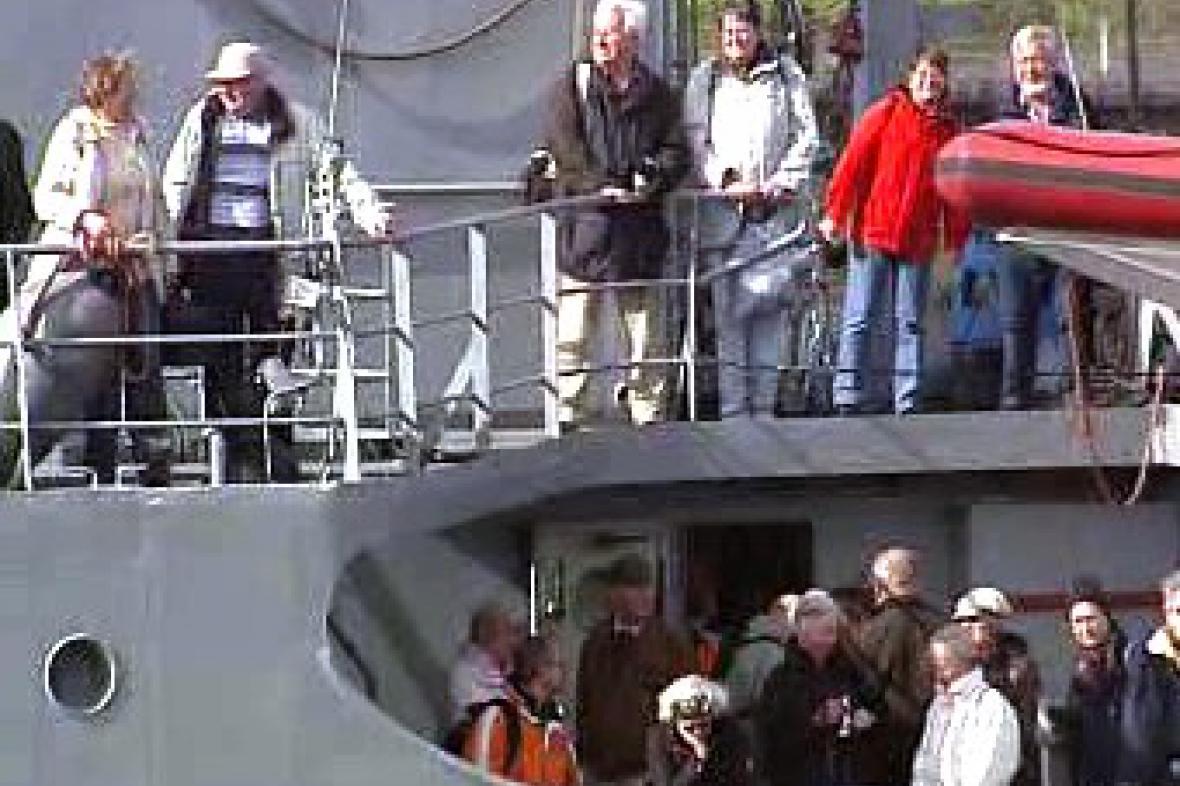 Cestující na lodi