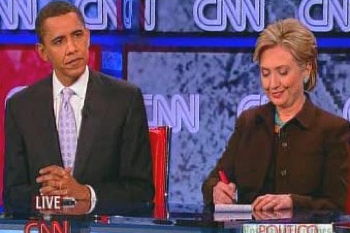 Obama a Clintonová