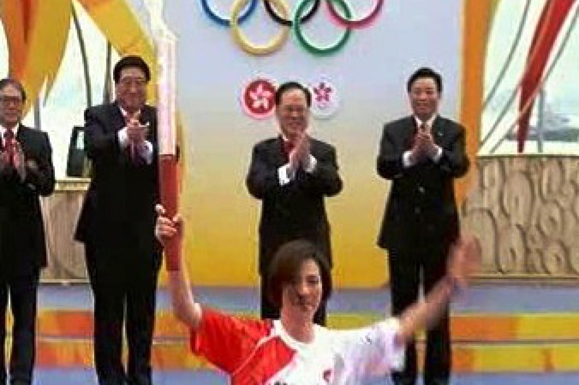Olympijská pochodeň v Hongkongu