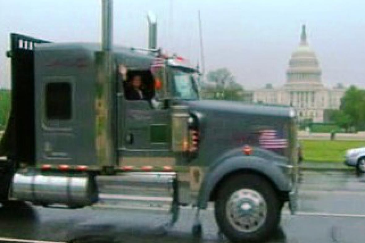 Kamiony před Kongresem