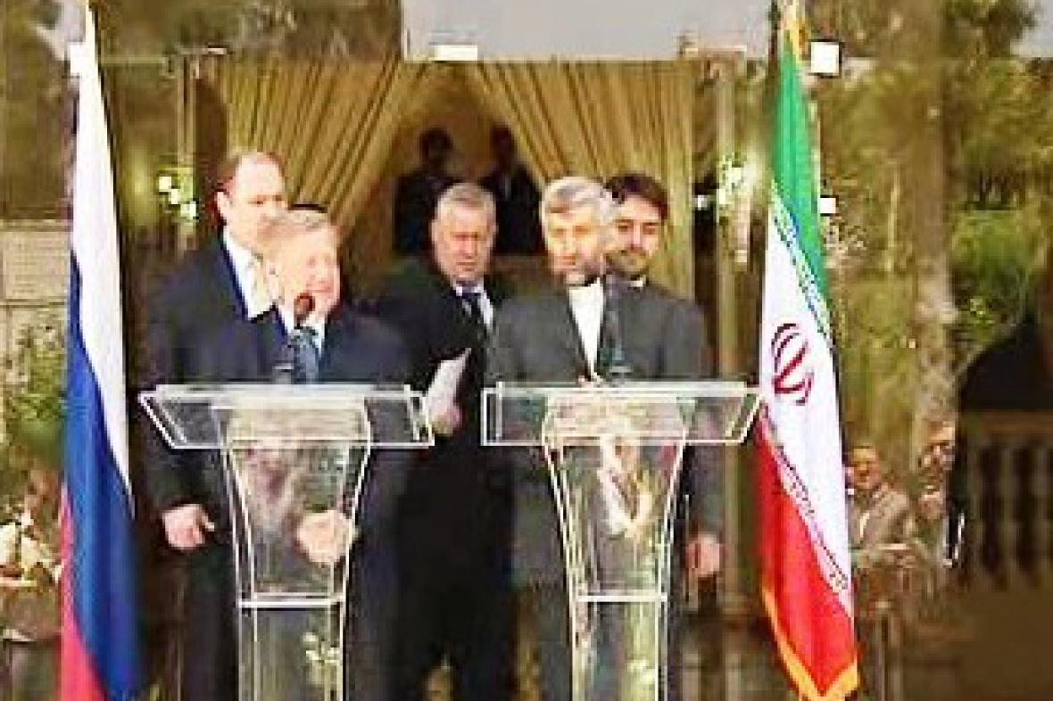 Valentin Soboljev na jednání v Íránu