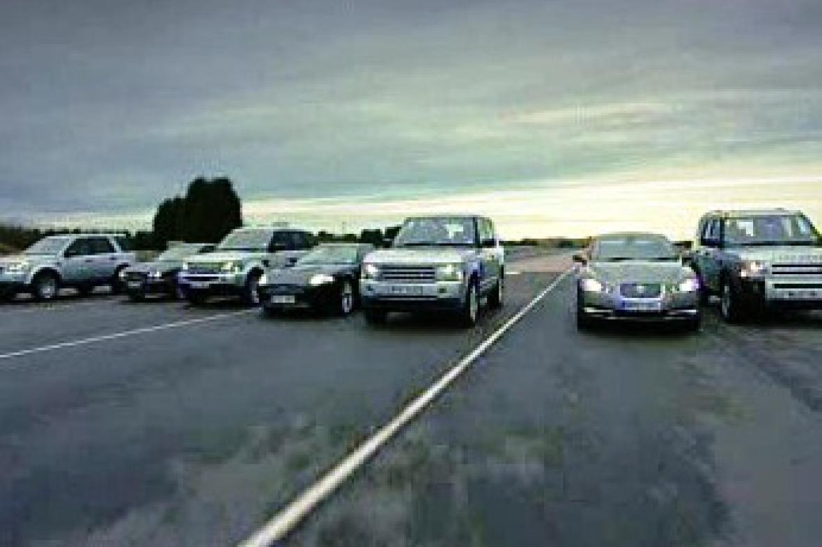 Land Rover a Jaguar