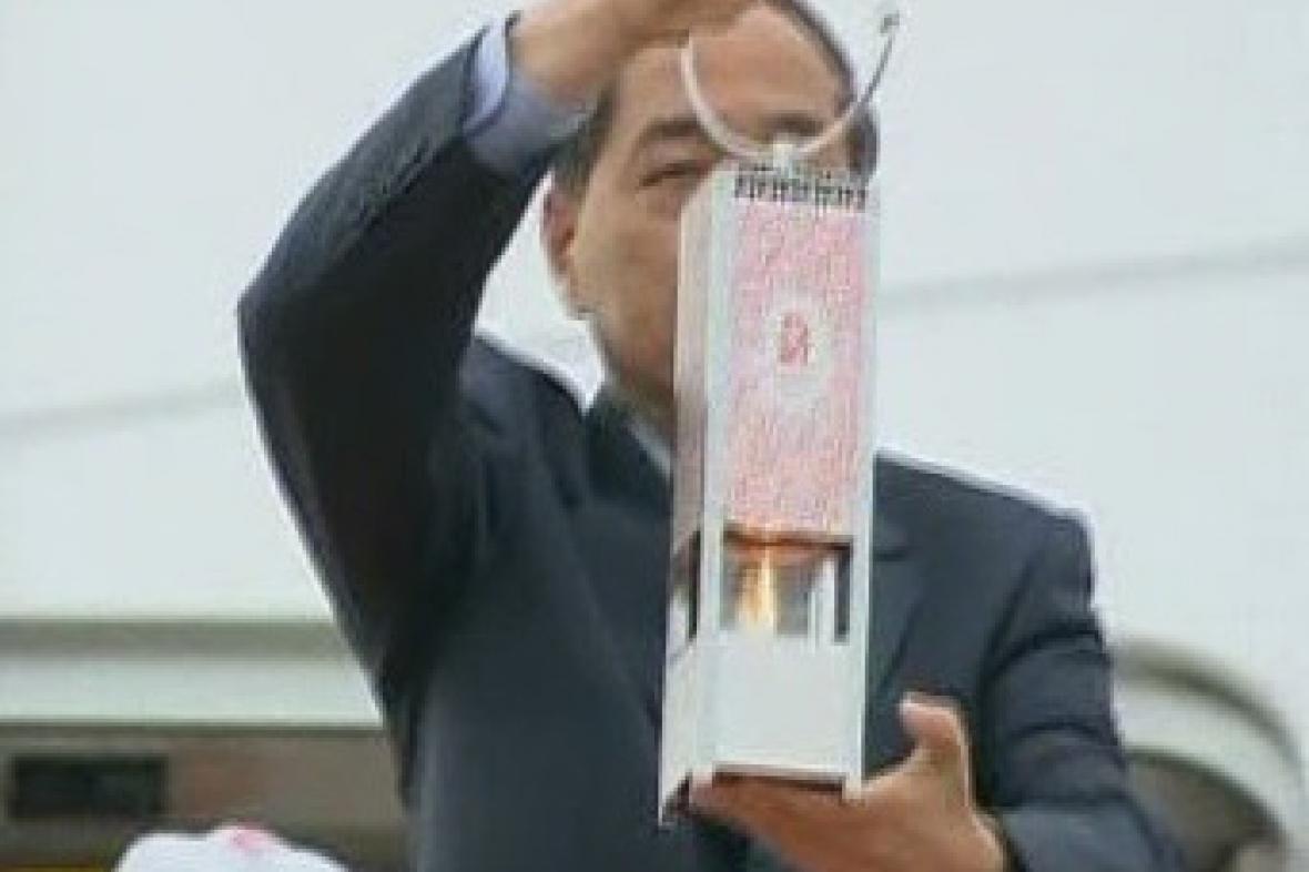 Olympijský oheň dorazil do Japonska