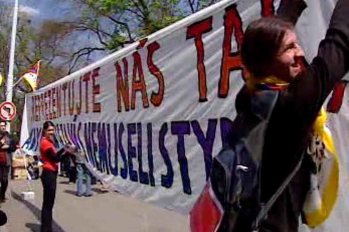 Demonstrace za lidská práva
