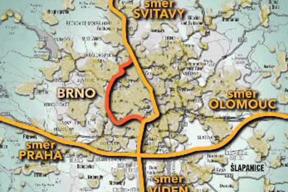 Trasy přes Brno