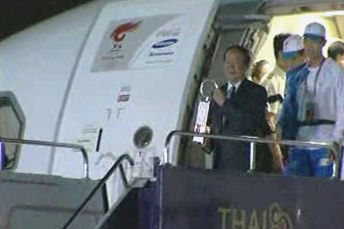 Přílet olympijské pochodně do Thajska
