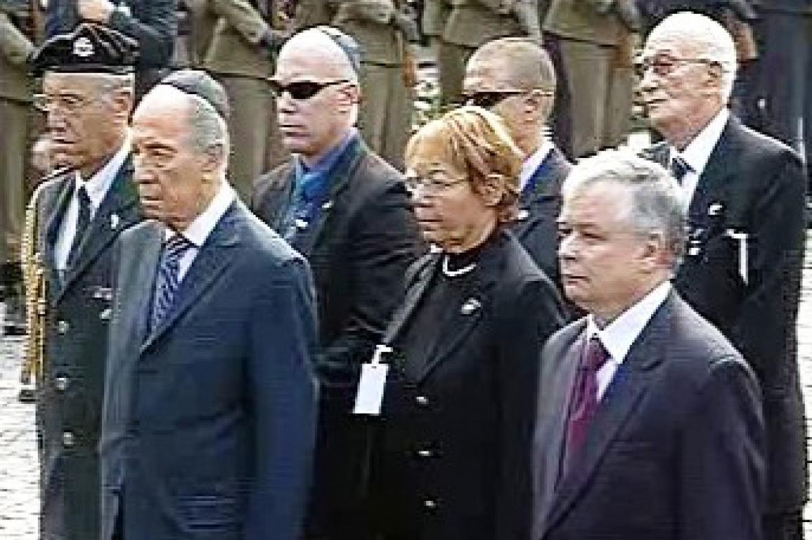 Lech Kaczyňski a Šimon Peres