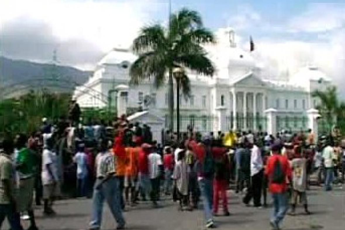 Demonstrace na Haiti