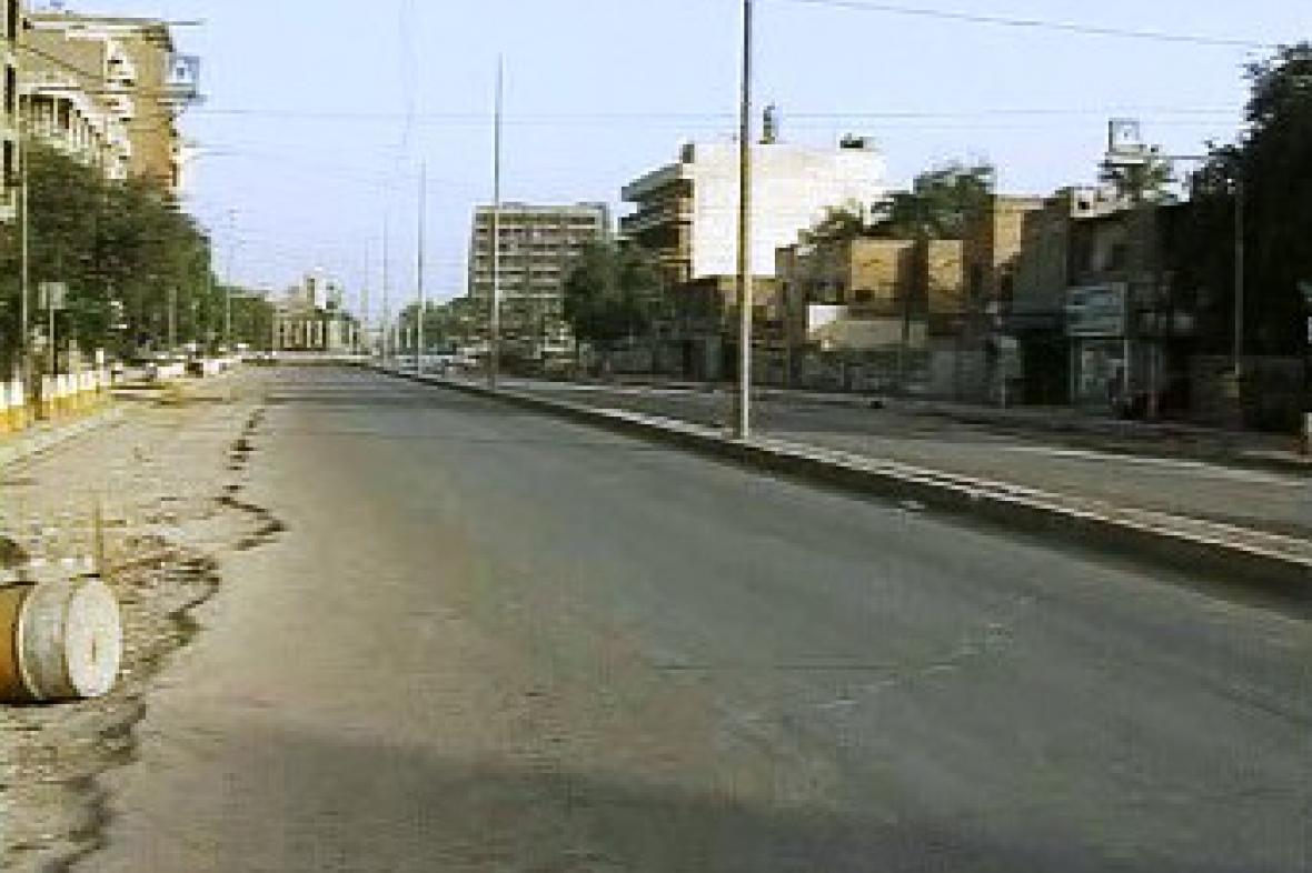 Vylidněné ulice Bagdádu