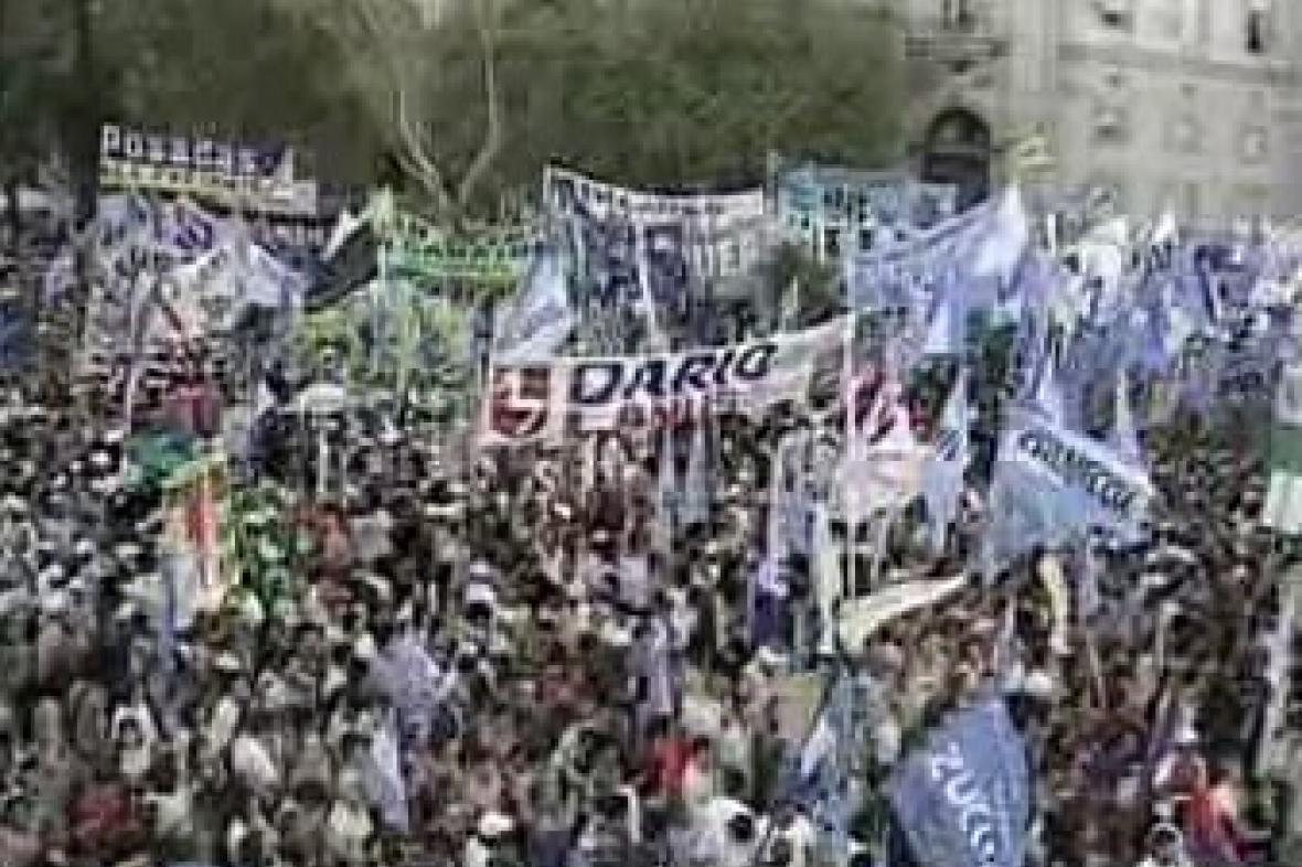 Demonstrace v Argentině