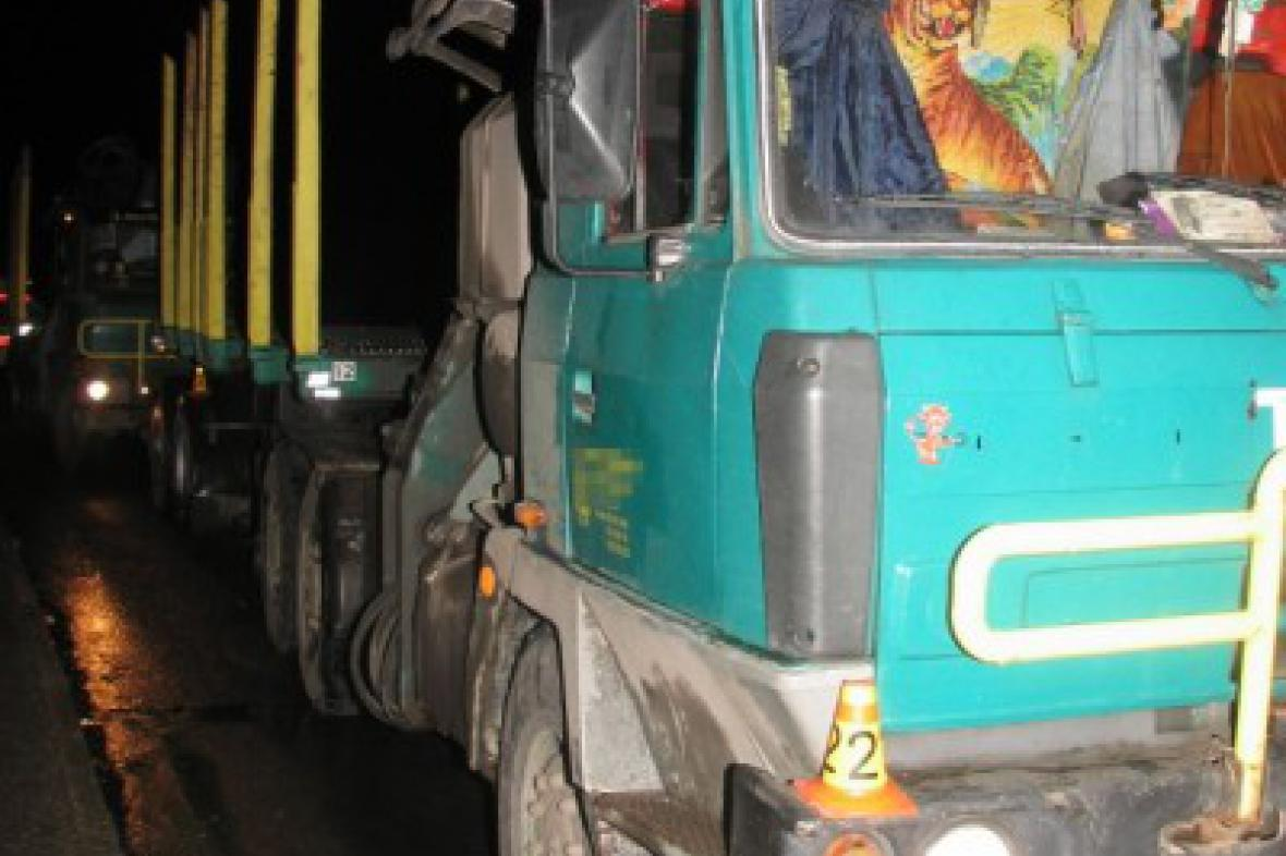 Havarované nákladní auto