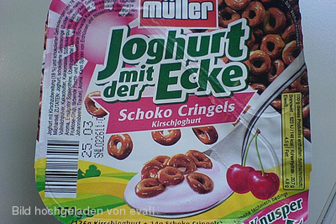 Jogurt firmy Müller