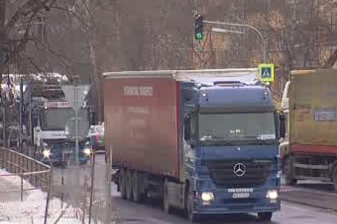 Kamiony v Ústí nad Labem