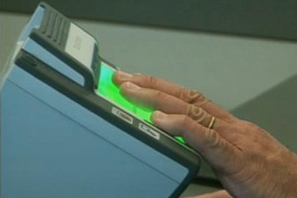 Otisky prstů na amerických letištích