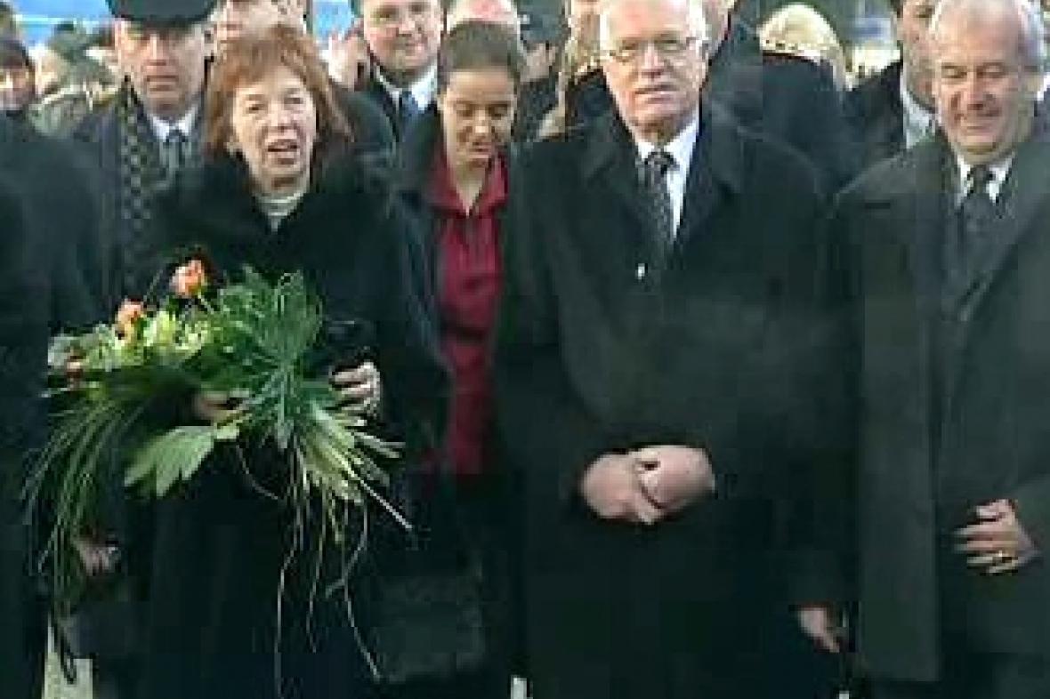 Václav Klaus s ženou Livií