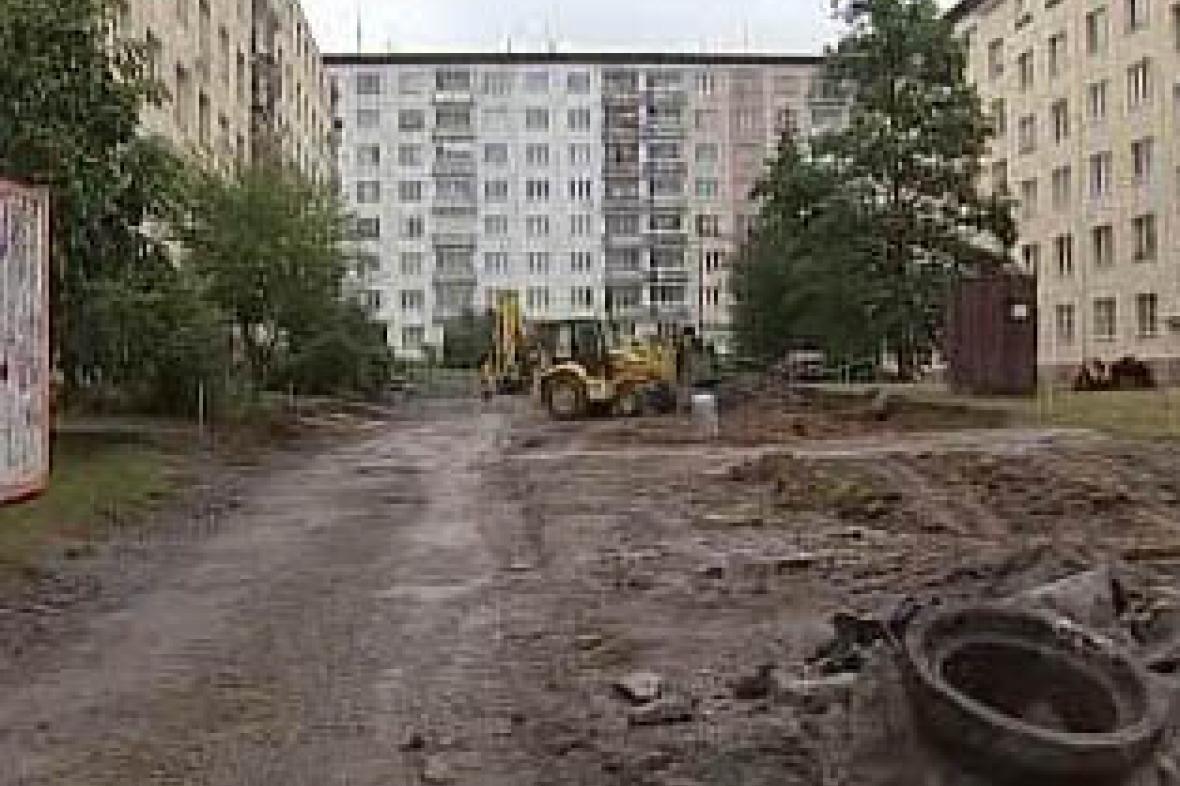 Stavba parkoviště v Plzni