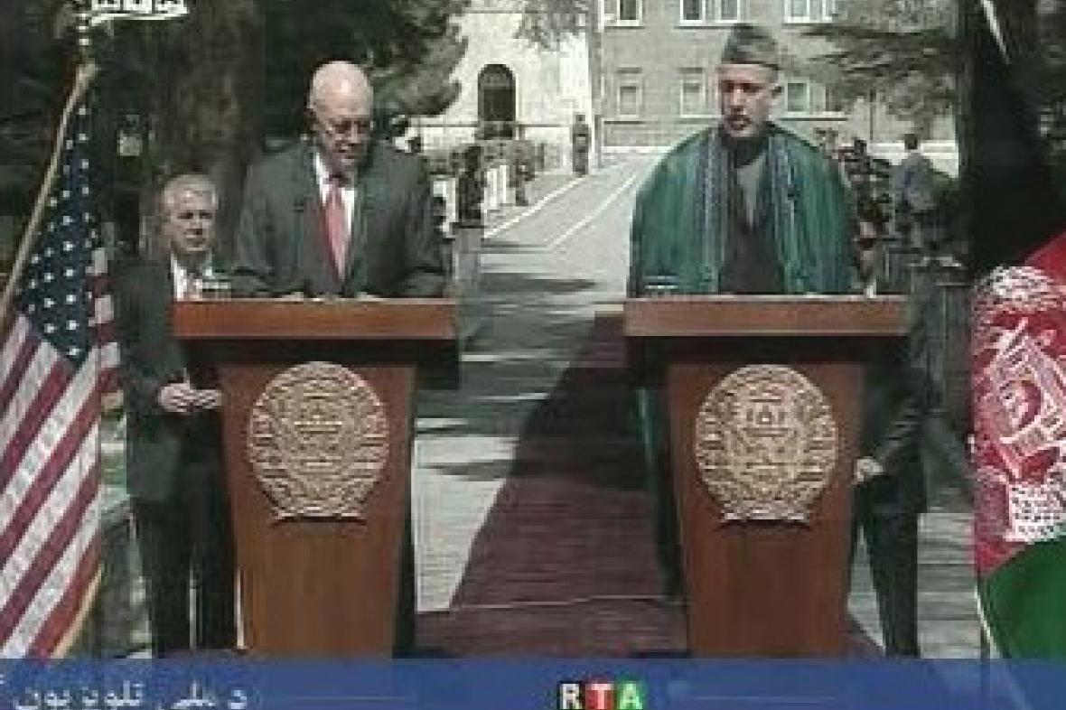 Dick Cheney a Hamíd Karzáí