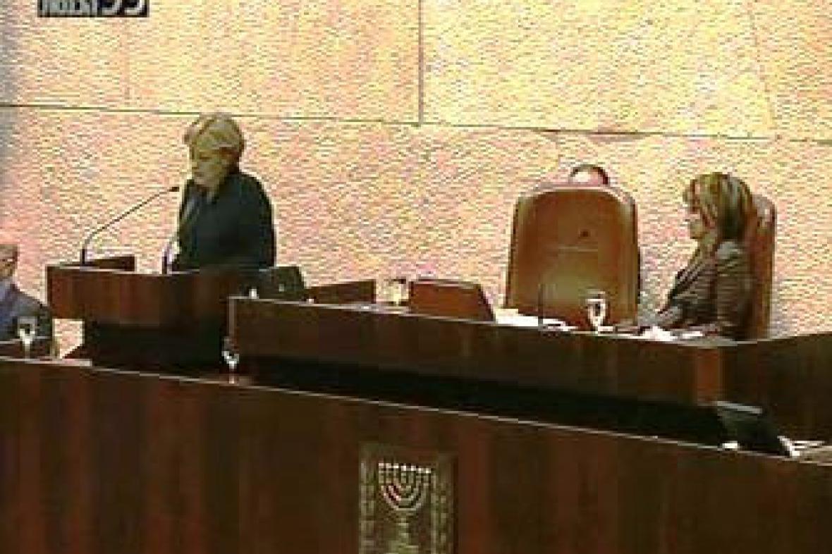 Angela Merkelová v Knesetu